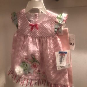 NWT Bonnie Baby Easter 2 Piece Outfit